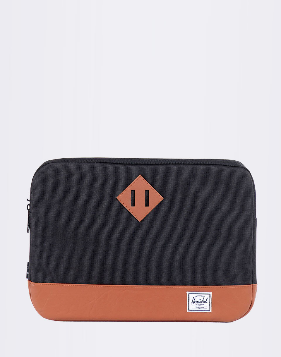 Na počítač Herschel Supply Heritage Sleeve for 13 inch Macbook Black / Tan Synthetic Leather