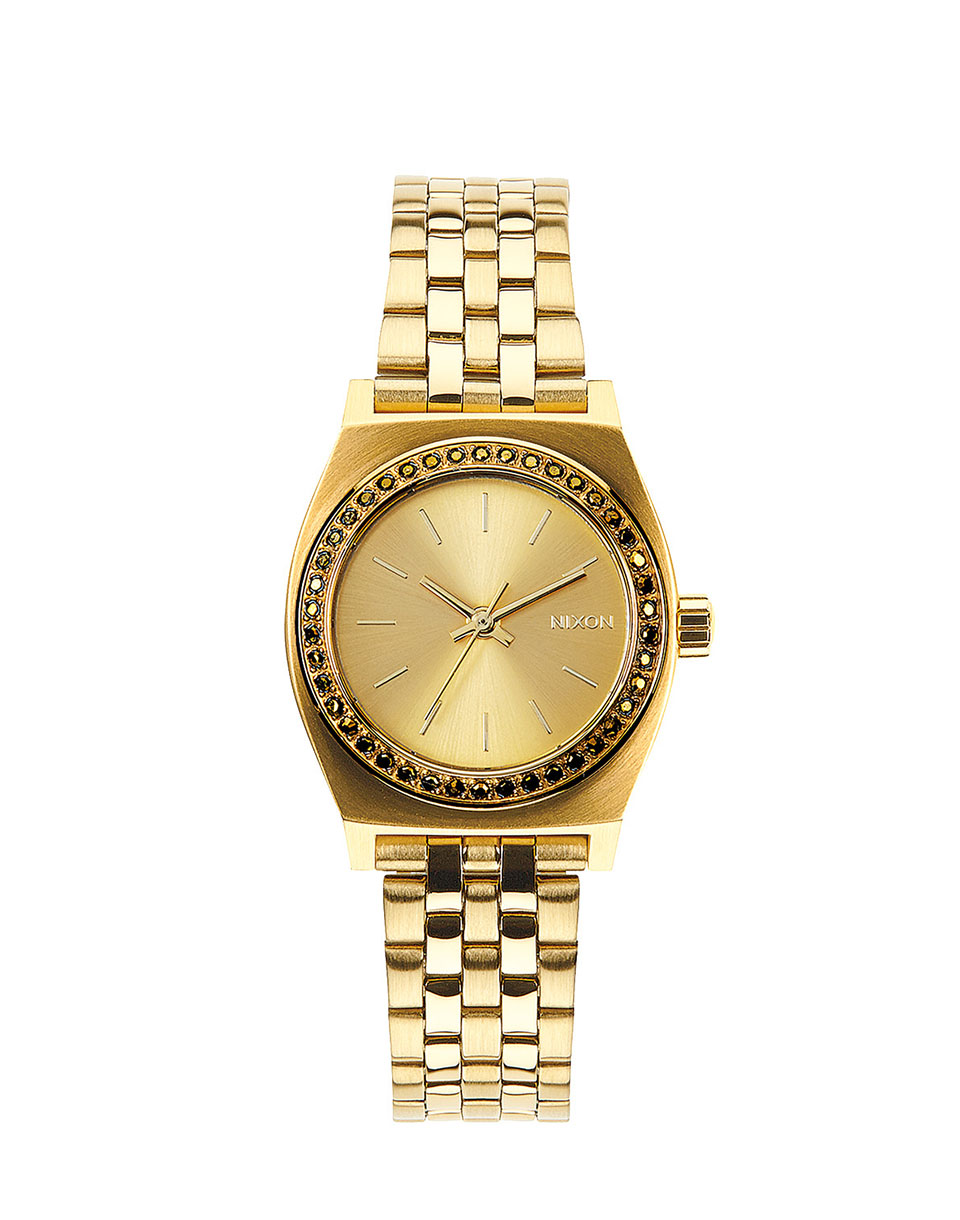 Hodinky Nixon Small Time Teller all gold crystal + doprava zdarma