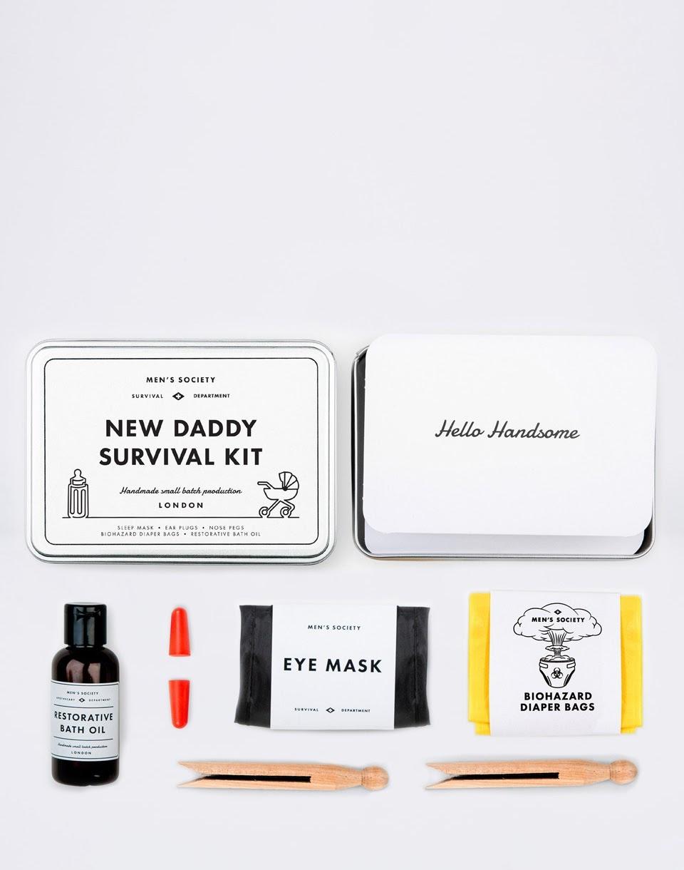 Dárkové balení MEN'S SOCIETY New Daddy Survival Kit