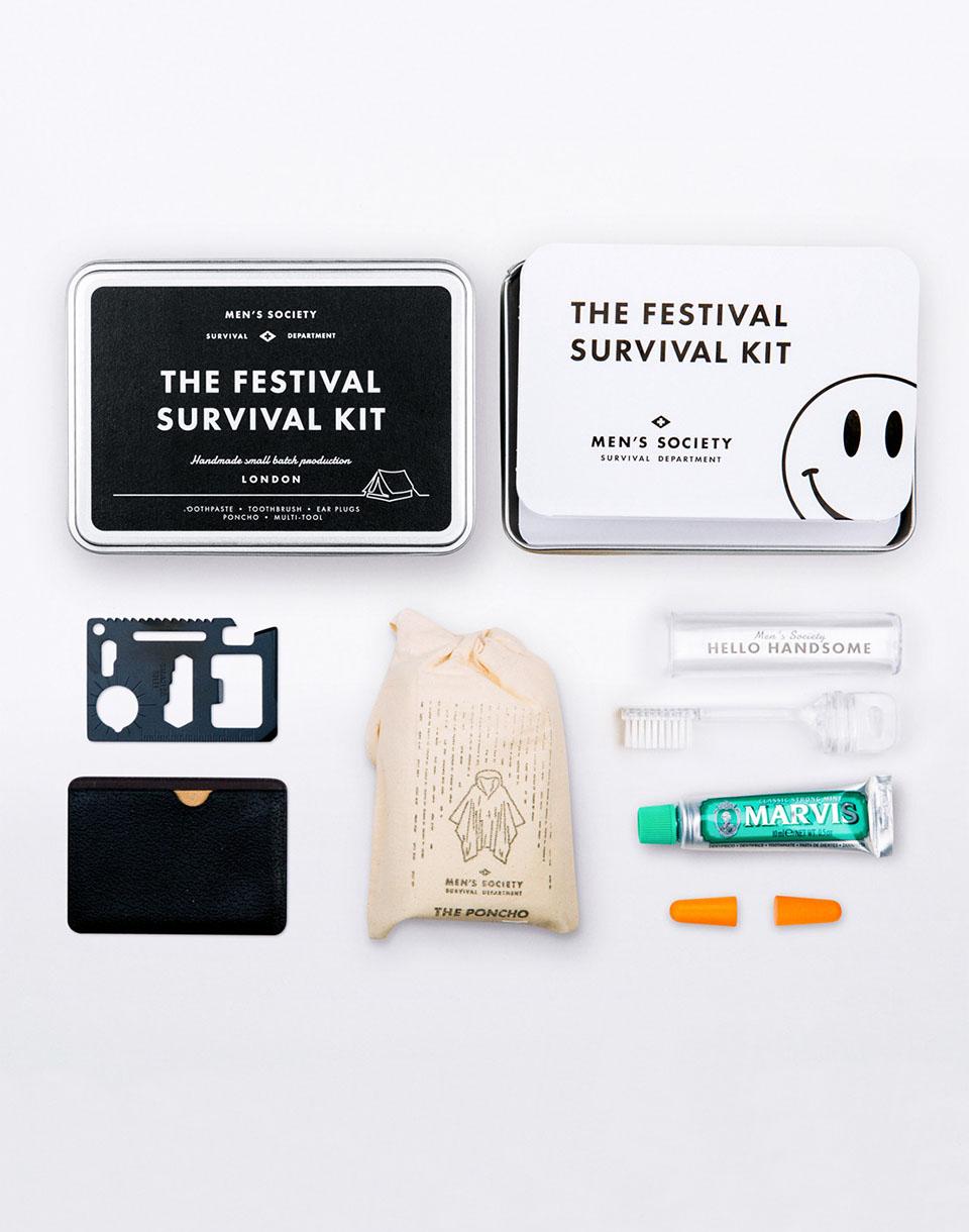 Cestování MEN'S SOCIETY Festival Survival Kit + novinka