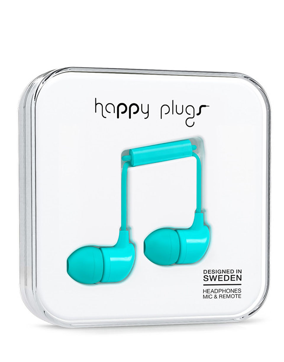 Sluchátka Happy Plugs In-Ear Turqoise