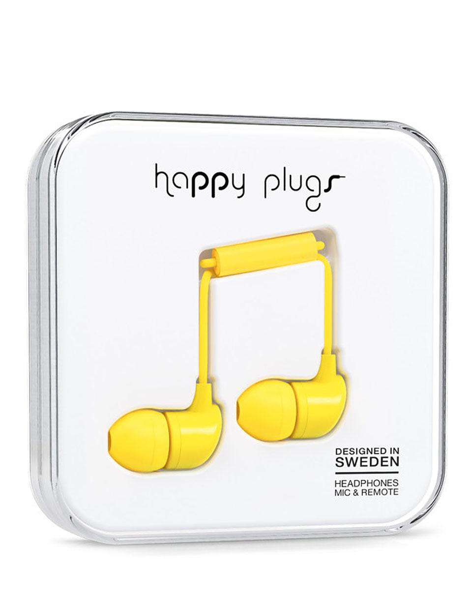 Sluchátka Happy Plugs In-Ear yellow