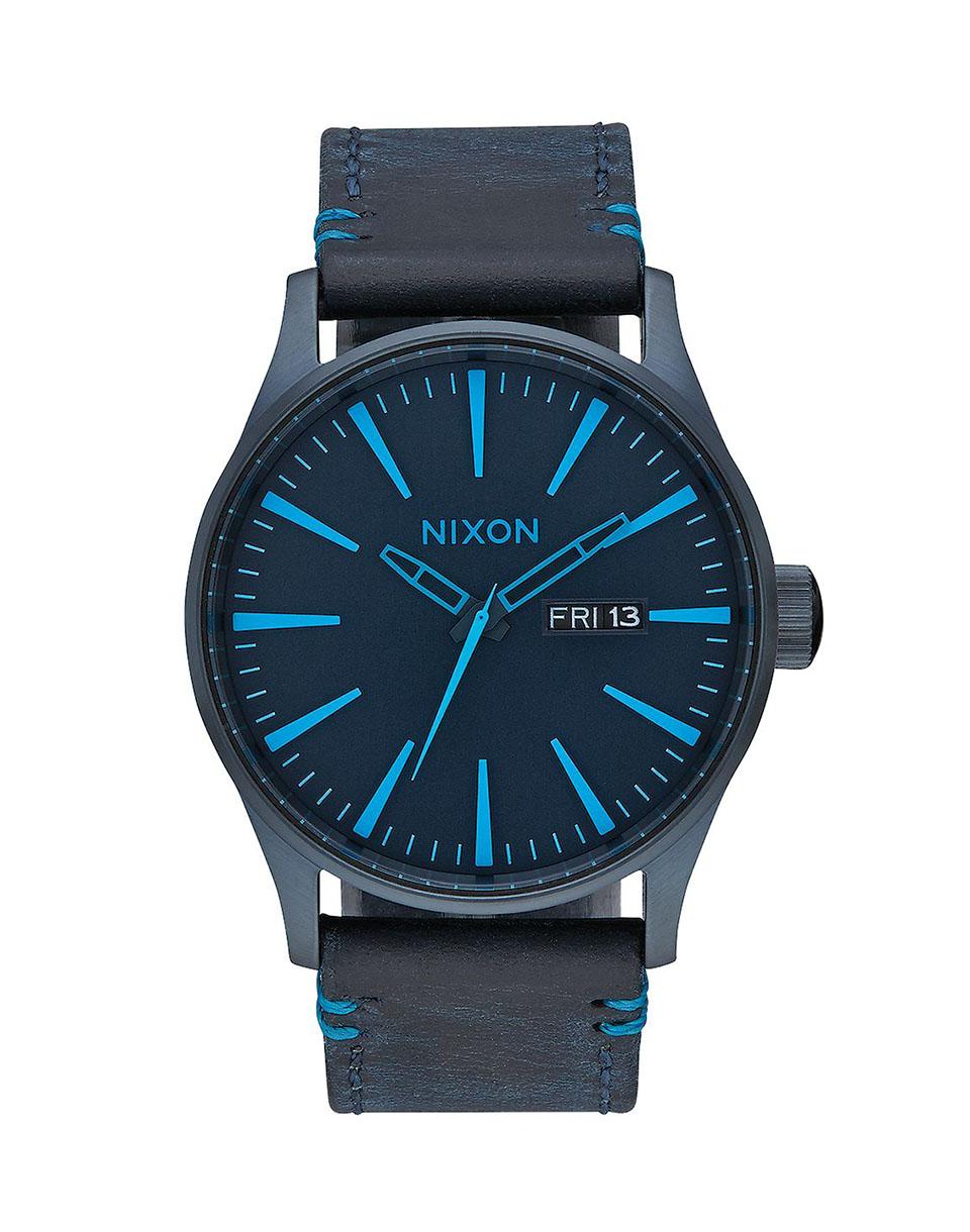Hodinky Nixon Sentry Leather All Dark blue + doprava zdarma