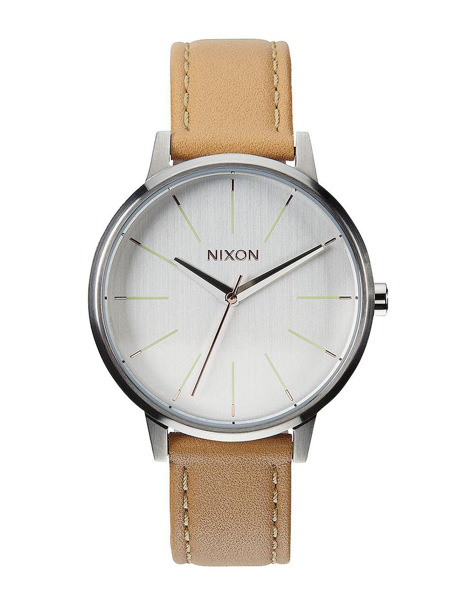 Hodinky Nixon Kensington Leather natural silver + doprava zdarma