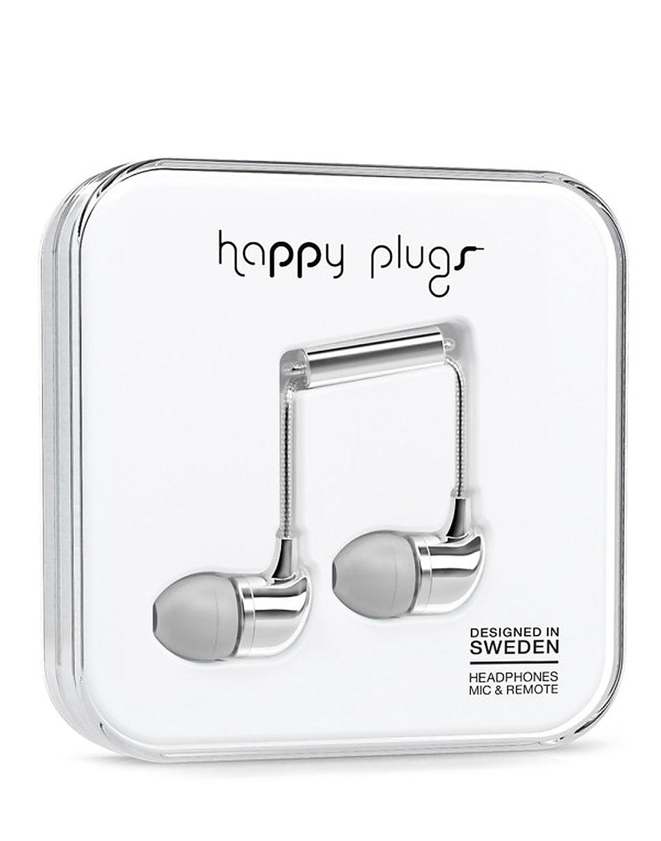 Sluchátka Happy Plugs In-Ear silver