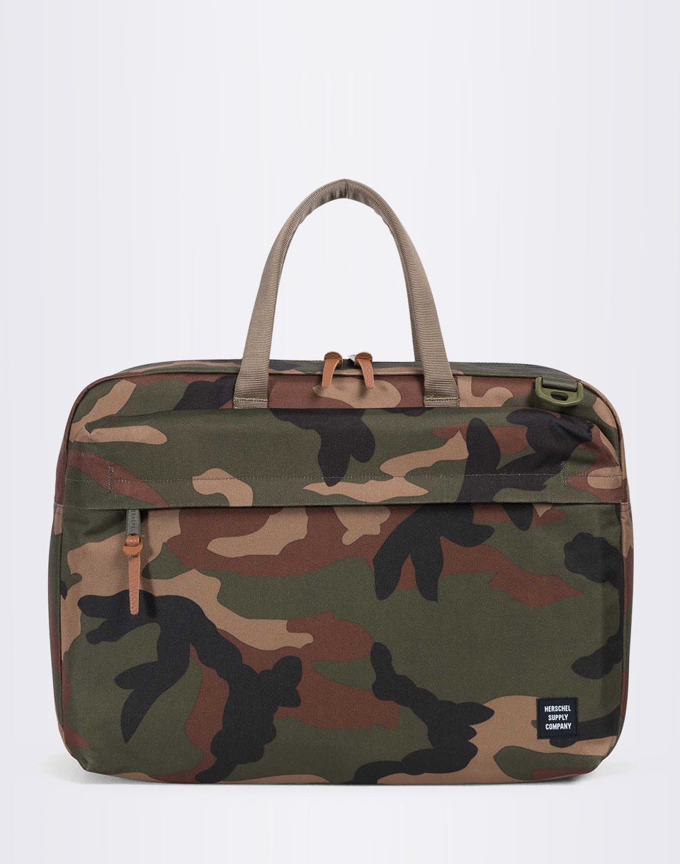 Taška Herschel Supply Sandford Woodland Camo / Multi Zip + doprava zdarma