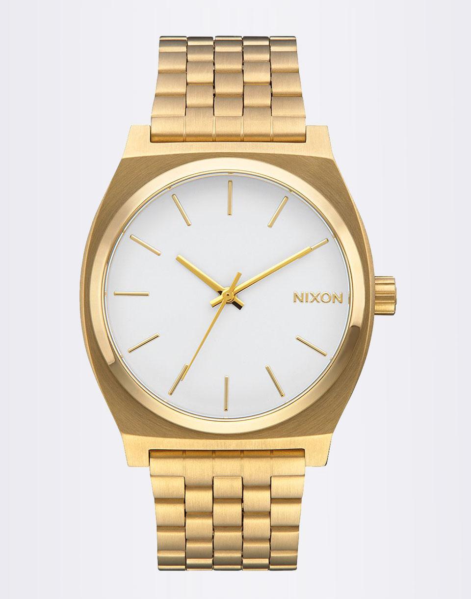 Hodinky Nixon Time Teller Gold / White + doprava zdarma + novinka
