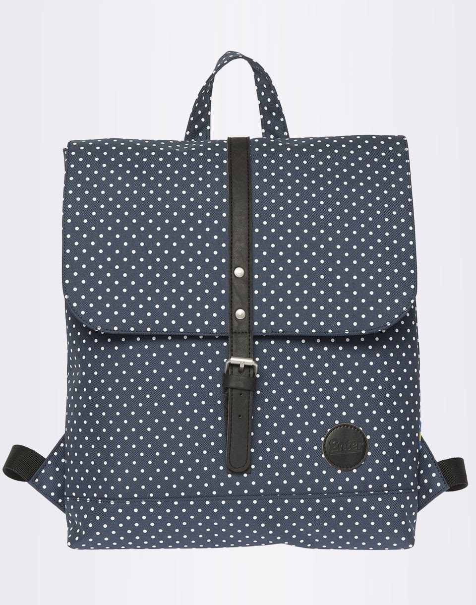 Enter Backpack Mini Navy White Polkadot