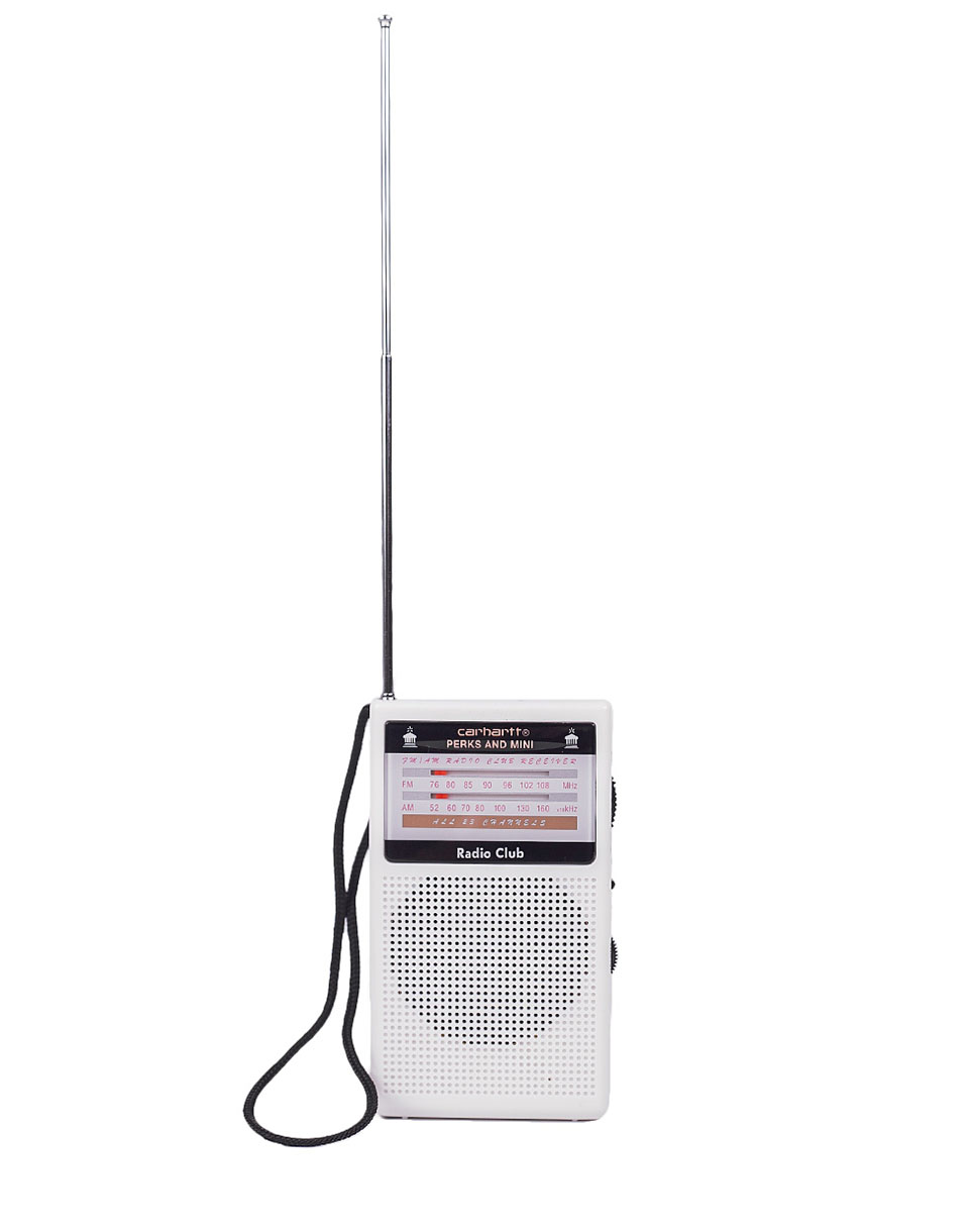 Carhartt WIP Radio Club Portable Radio White