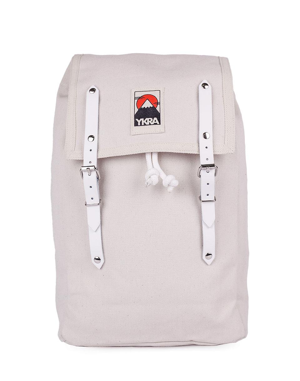 Batoh YKRA Matra Mini White Leather Straps white + doprava zdarma