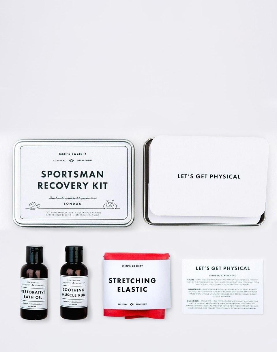 Dárkové balení MEN'S SOCIETY Sportsman Recovery Kit + novinka