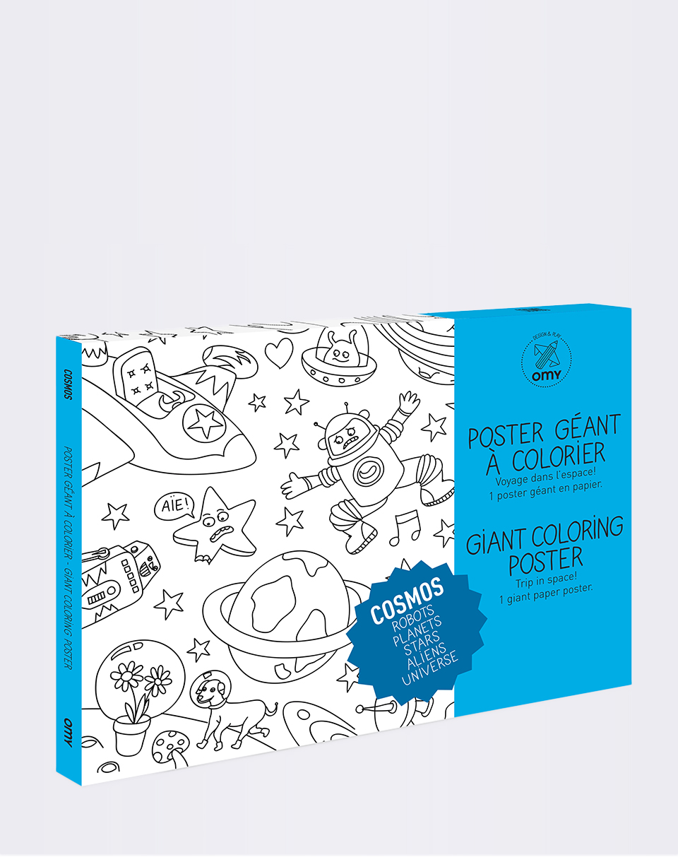 Hry OMY Giant Coloring Poster - Cosmos