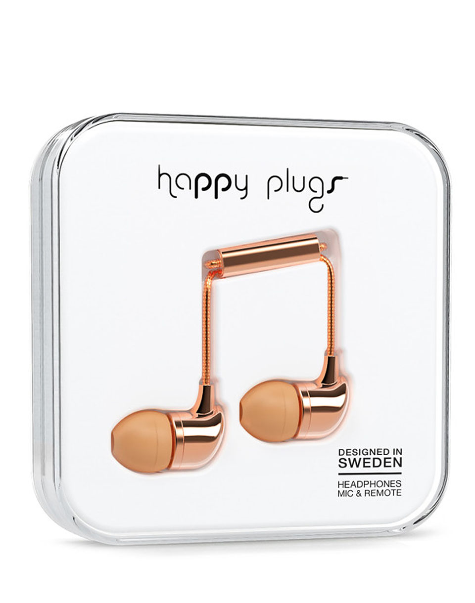 Sluchátka Happy Plugs In-Ear Rose Gold