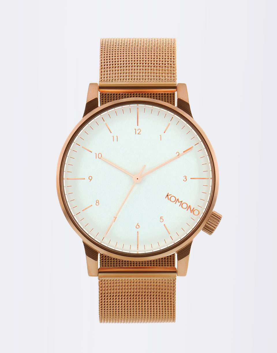 Komono Winston Royale Rose Gold - White