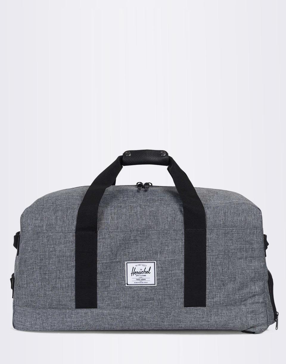 Batoh Herschel Supply Outfitter Raven Crosshatch / Black Pebbled Leather + doprava zdarma