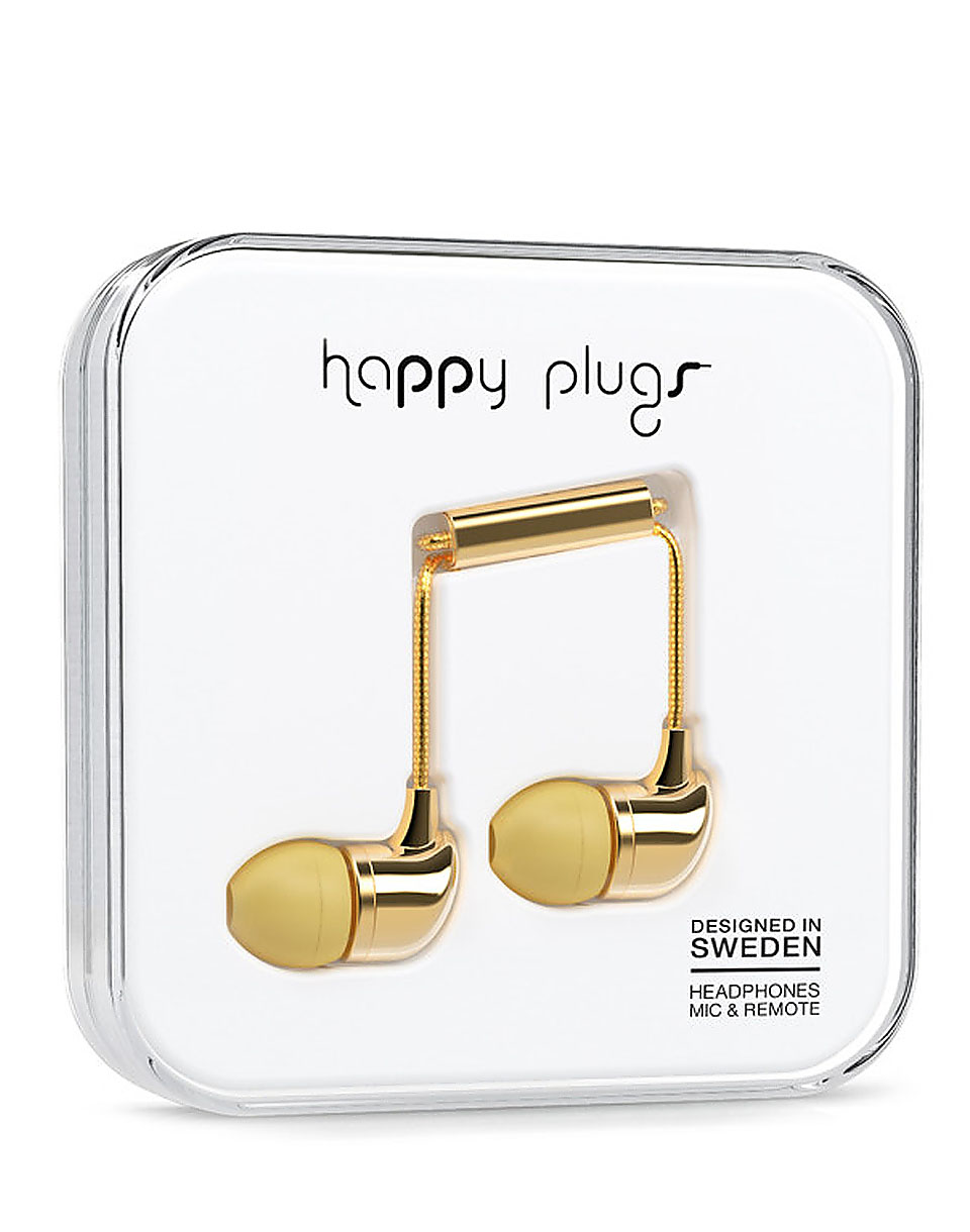 Sluchátka Happy Plugs In-Ear gold