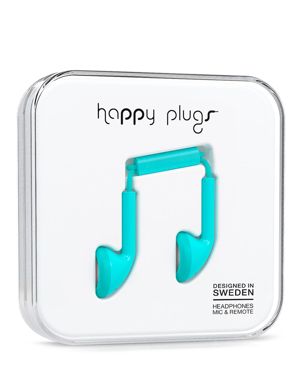 Sluchátka Happy Plugs Earbud Turquiose