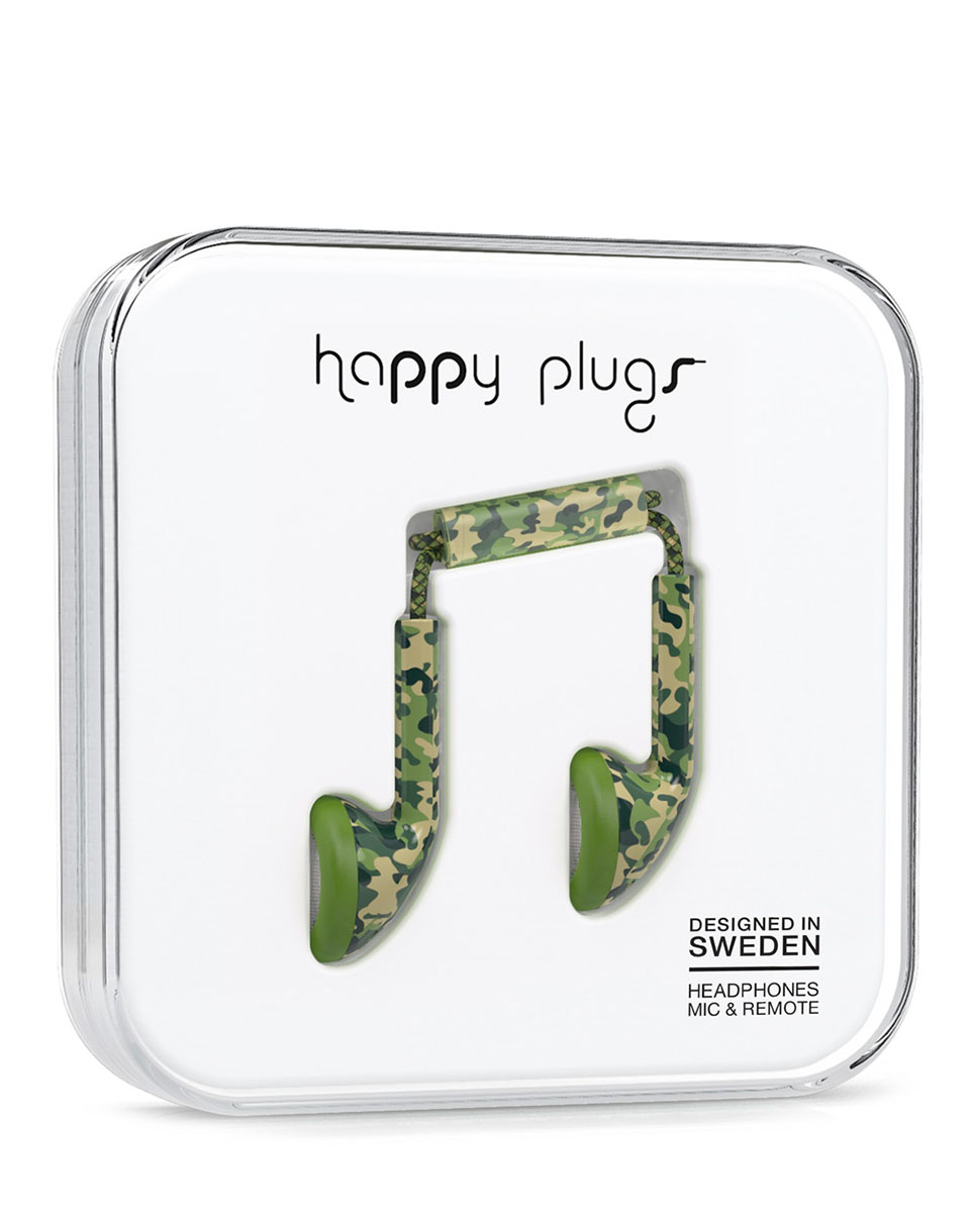 Sluchátka Happy Plugs Earbud camouflage