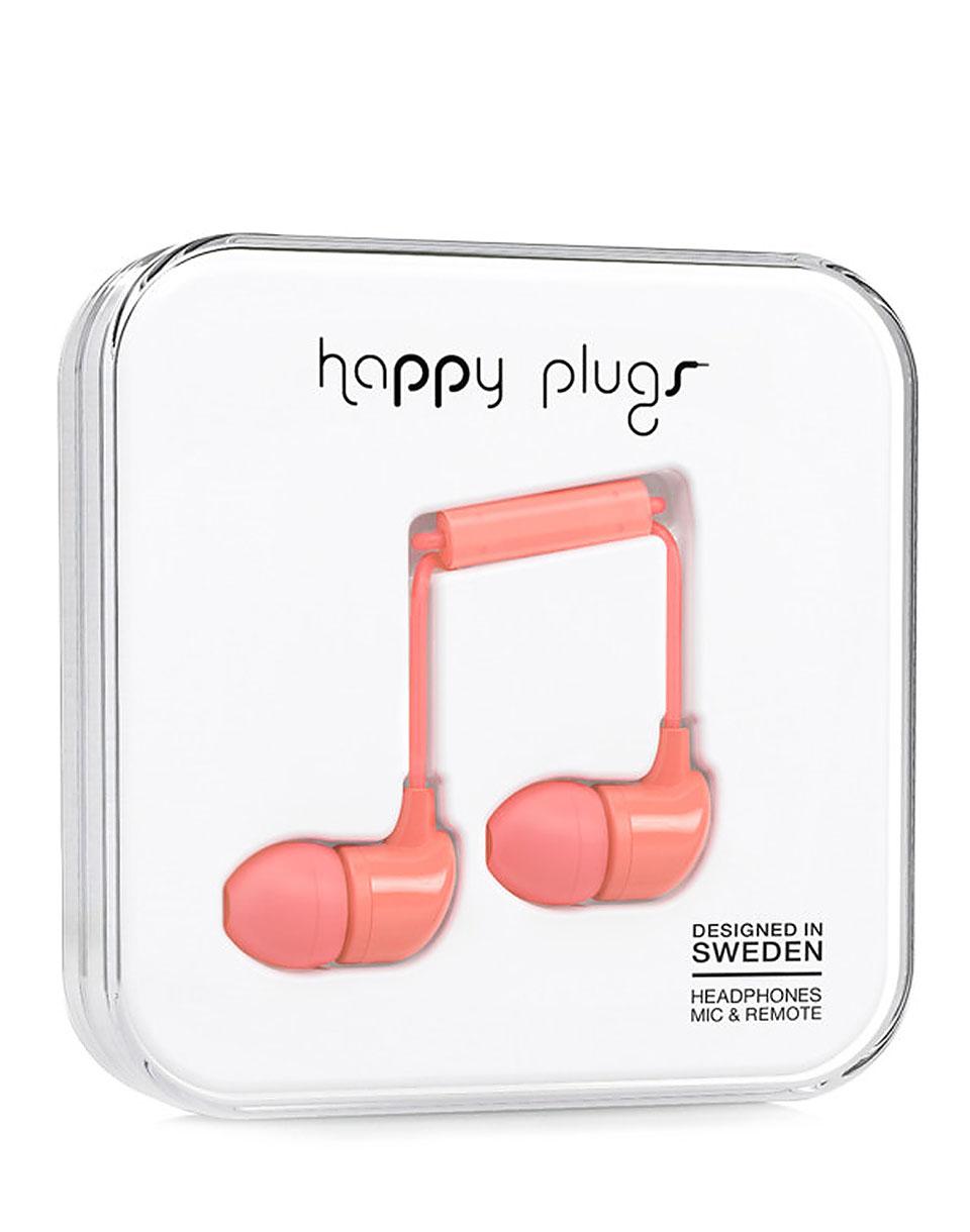 Sluchátka Happy Plugs In-Ear CORAL