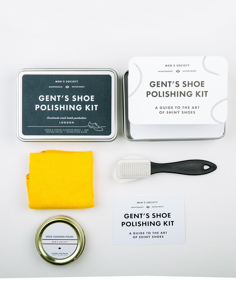 Cestování MEN'S SOCIETY Gent's Shoe Polishing Kit – Tin