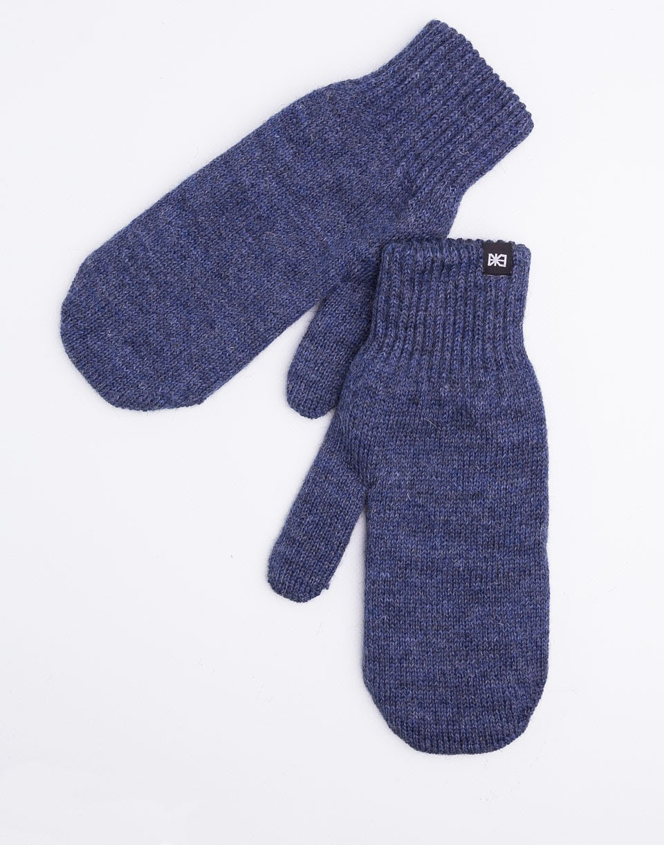 Makia Flag Mittens Blue