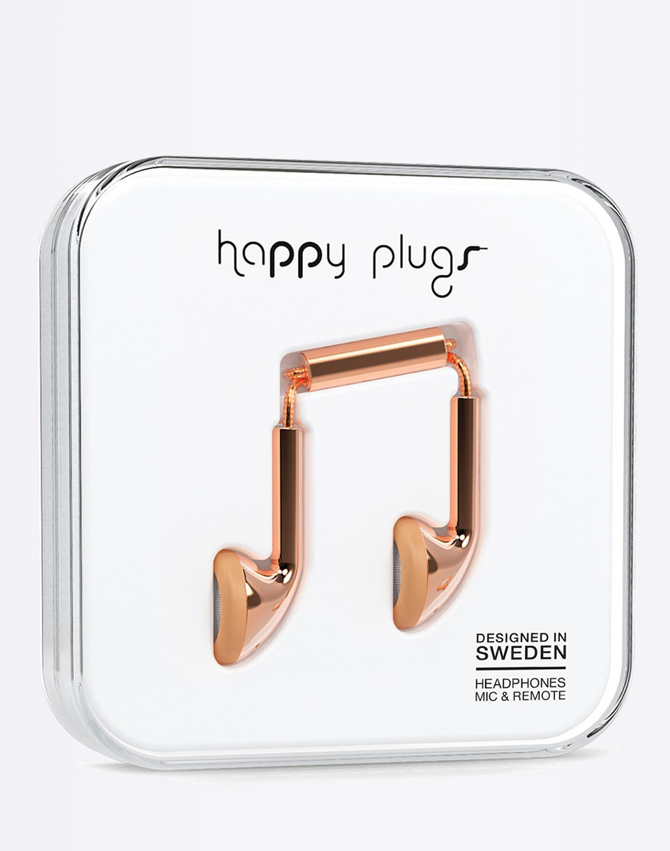 Sluchátka Happy Plugs Earbud rose gold