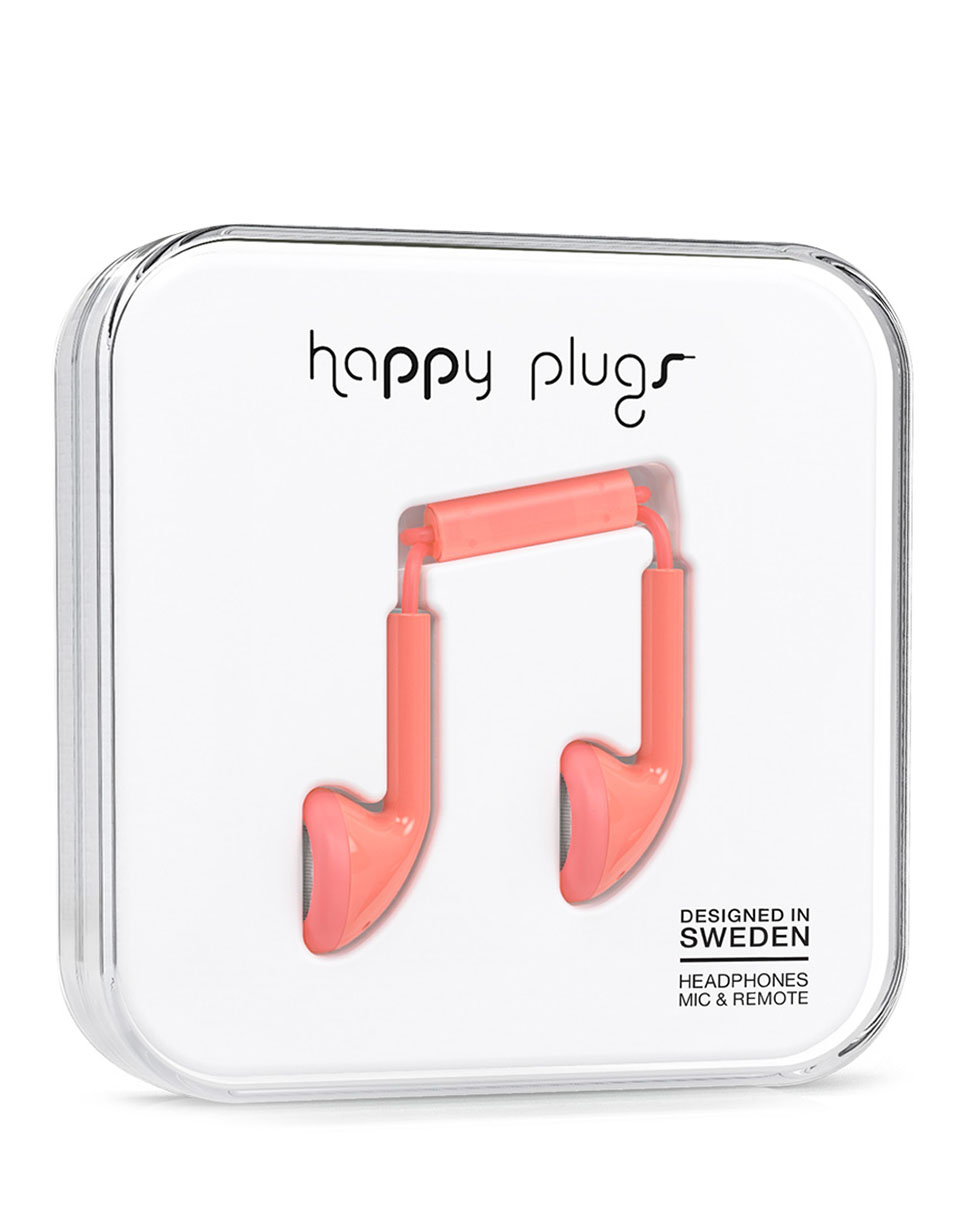 Sluchátka Happy Plugs Earbud CORAL
