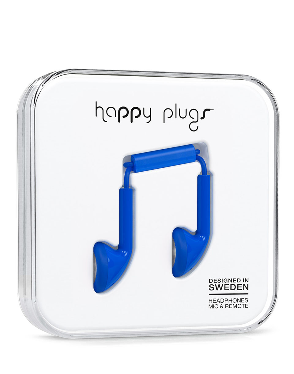 Sluchátka Happy Plugs Earbud Cobalt