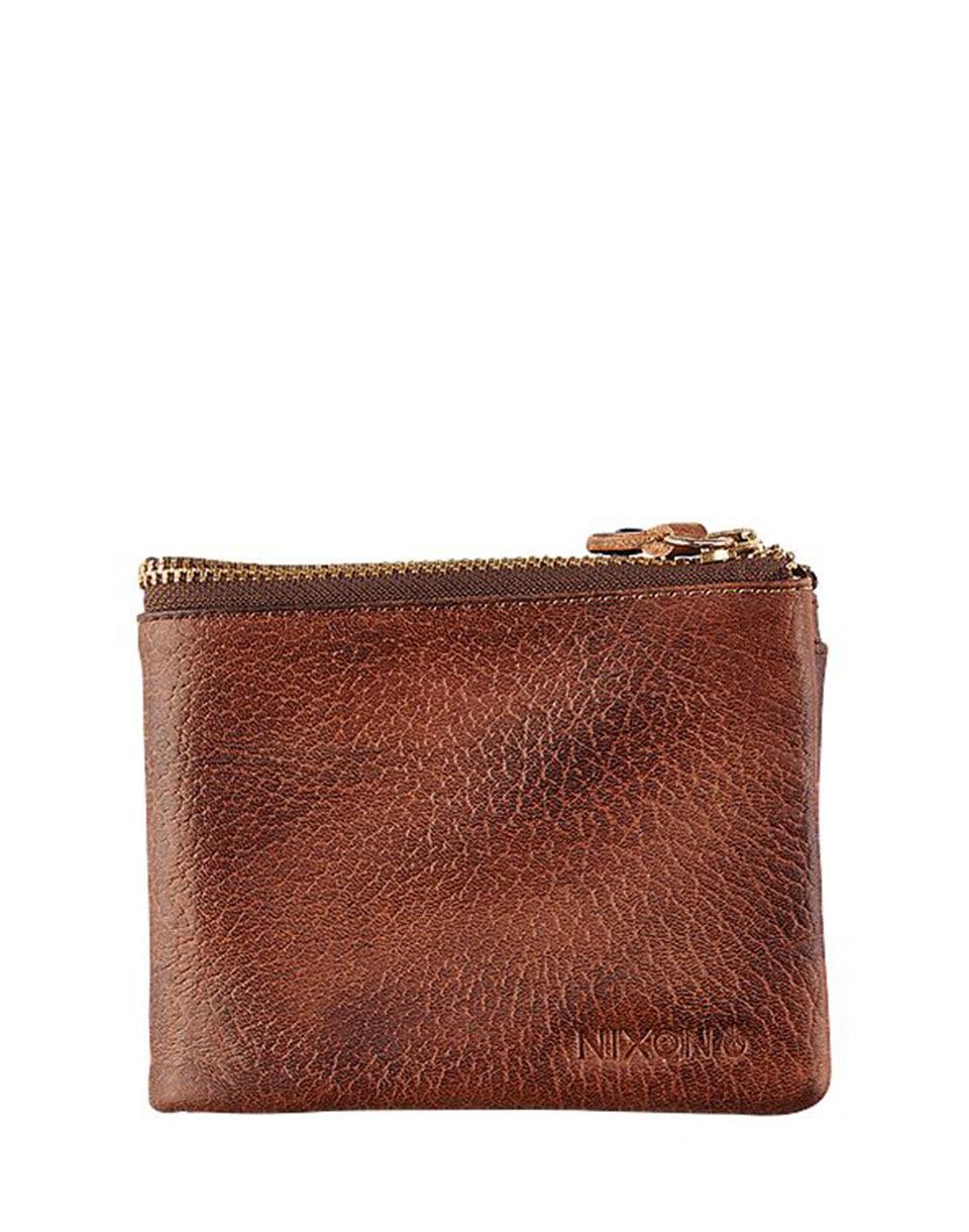 Peněženka Nixon Bayside Foldover Bi-Fold Wallet Brown