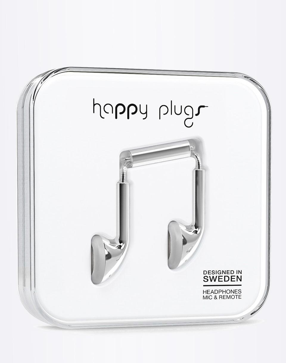 Sluchátka Happy Plugs Earbud silver