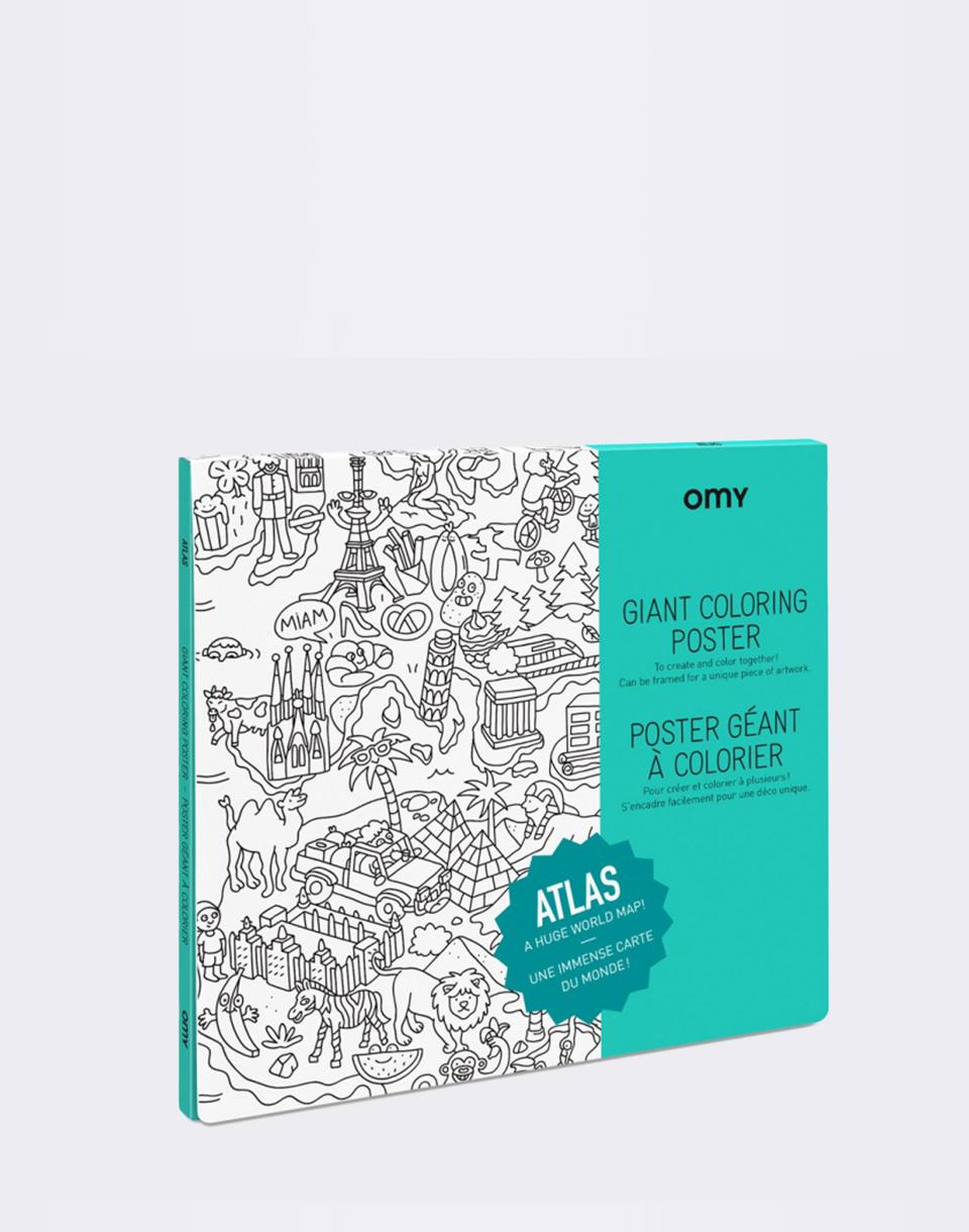 Cestování OMY Coloring Poster - Atlas