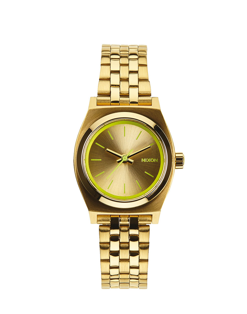 Hodinky Nixon Small Time Teller gold neon yellow