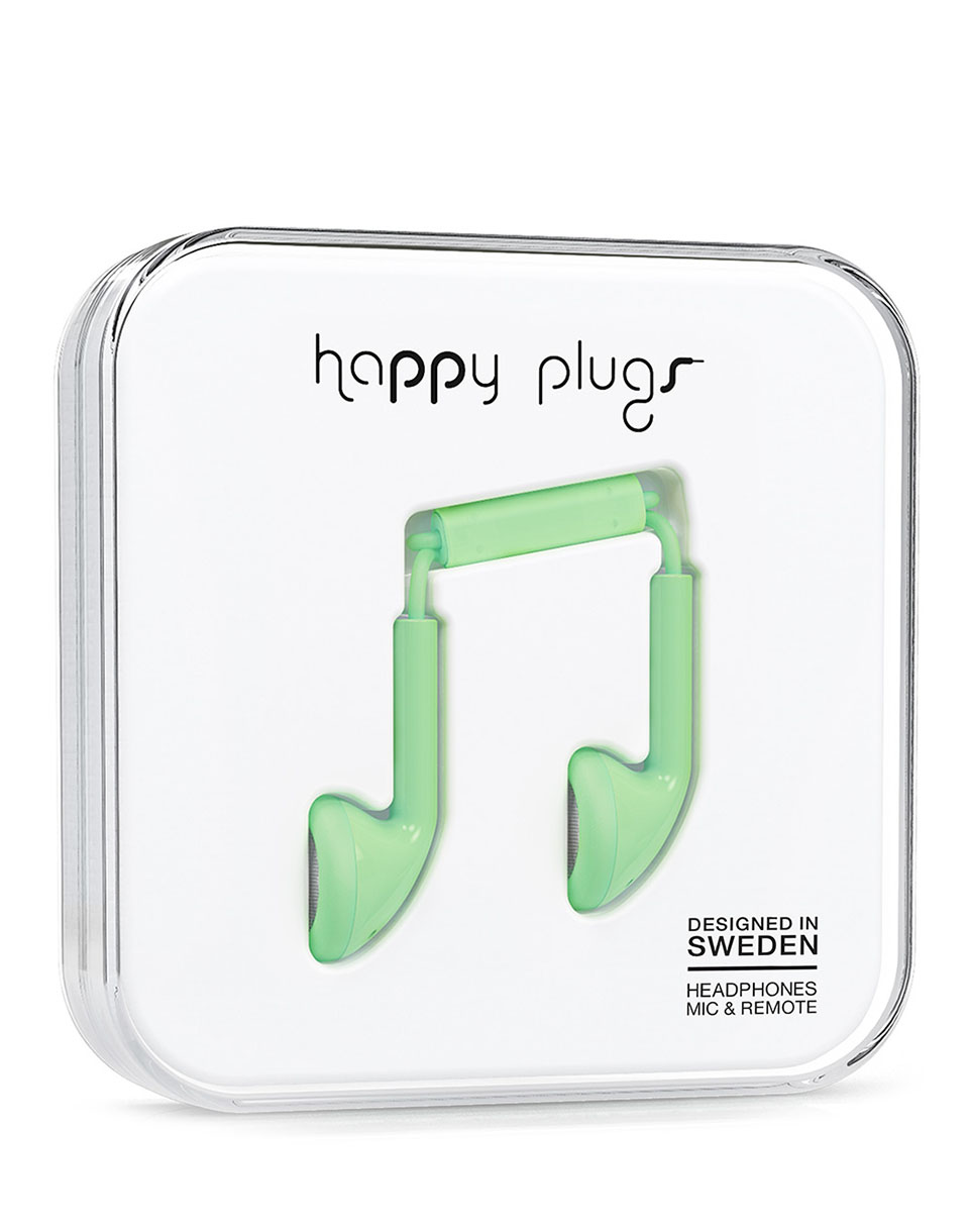 Sluchátka Happy Plugs Earbud mint