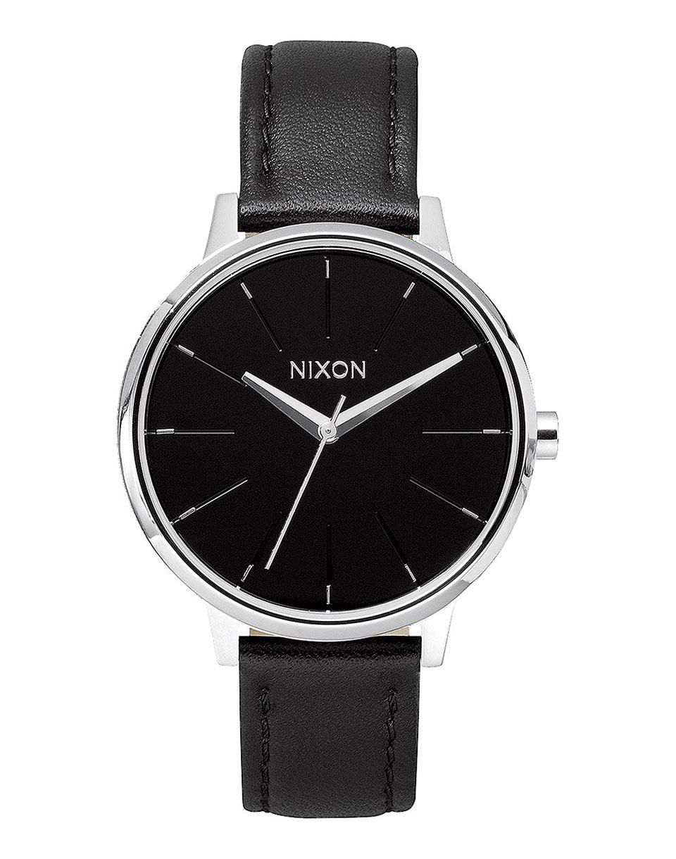 Hodinky Nixon Kensington Leather Black + doprava zdarma + novinka
