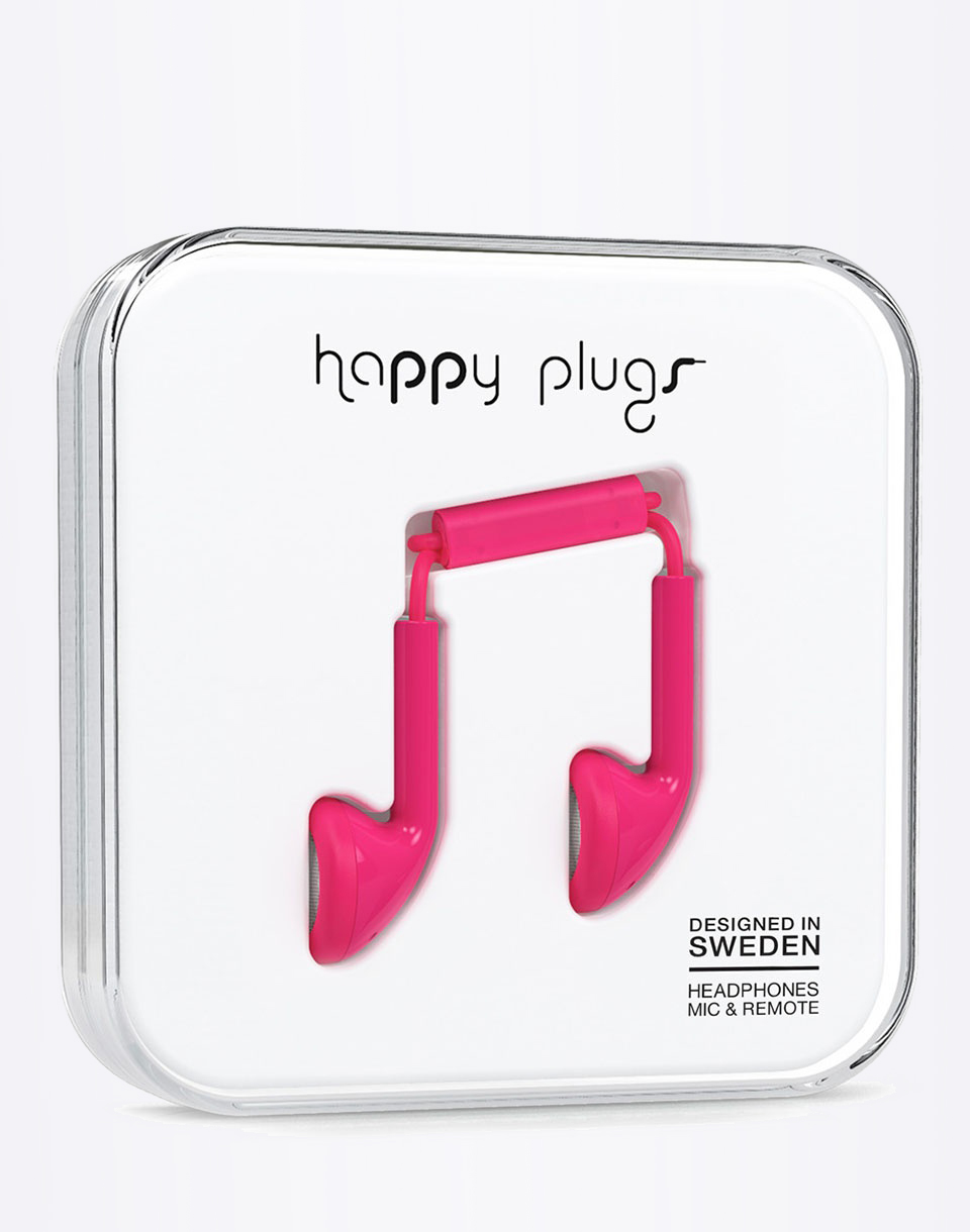 Sluchátka Happy Plugs Earbud CERISE