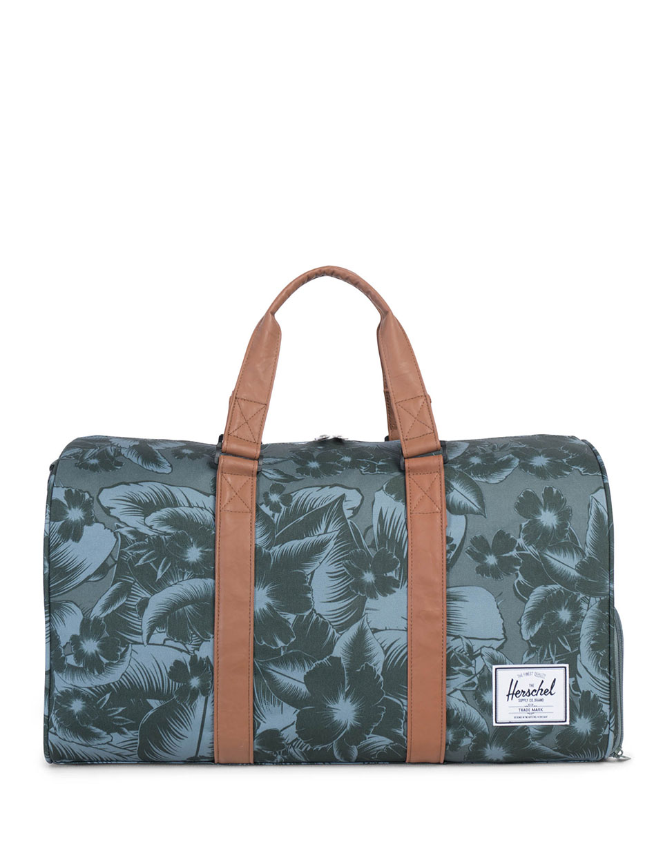 Taška Herschel Supply Novel Jungle Floral Green/Tan Synthetic Leather + doprava zdarma