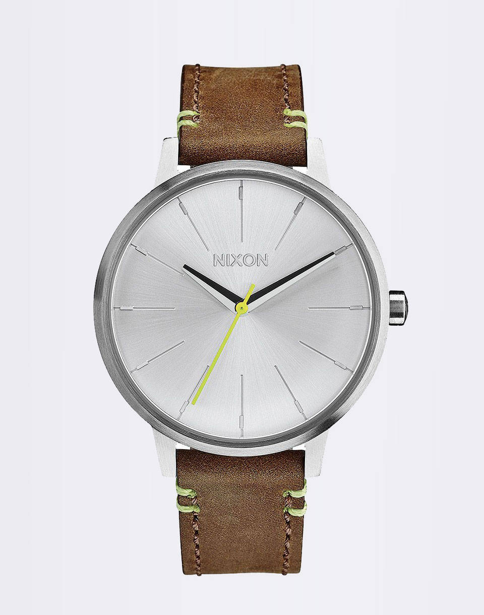 Nixon Kensington Leather Brown Lime