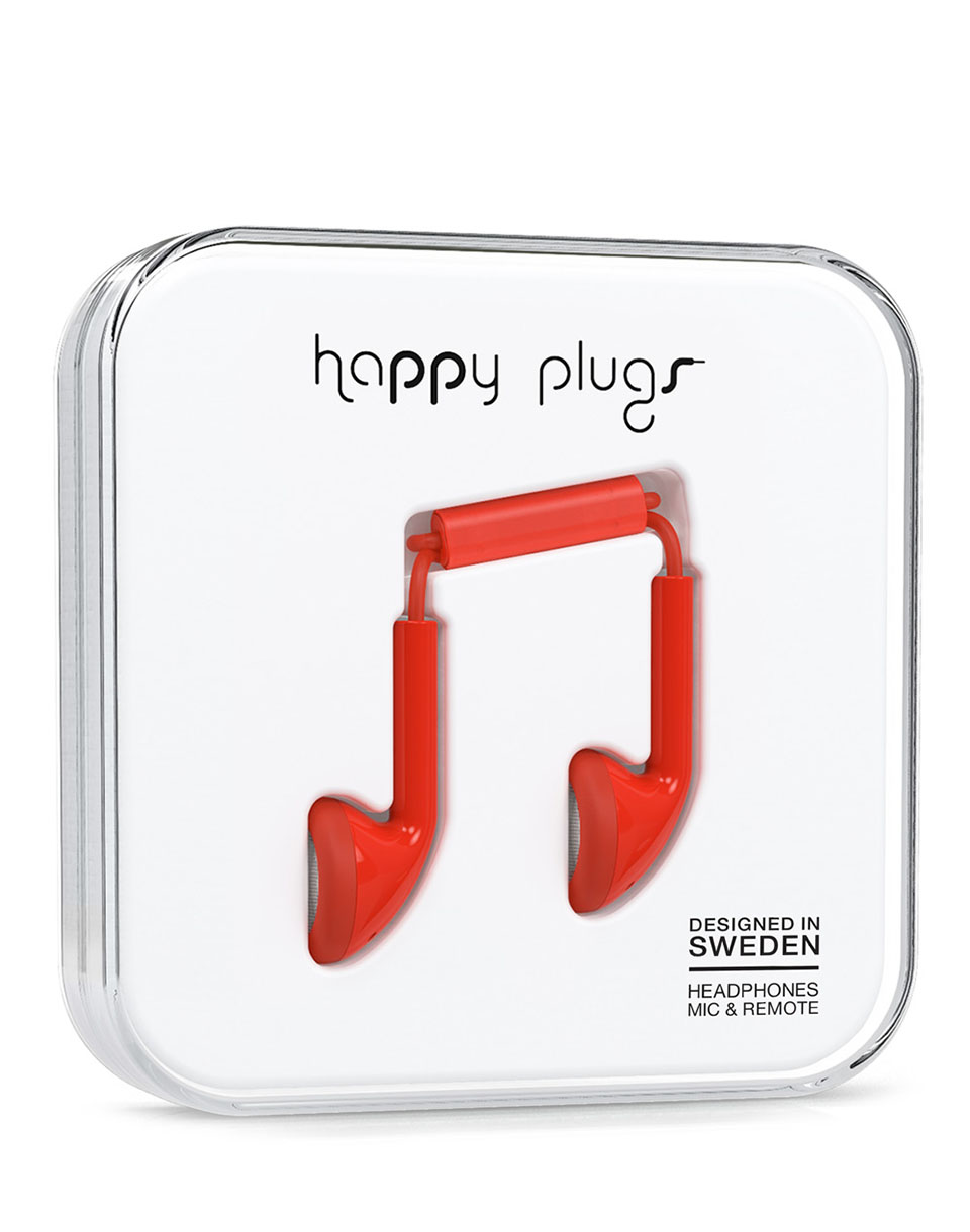 Sluchátka Happy Plugs Earbud Red