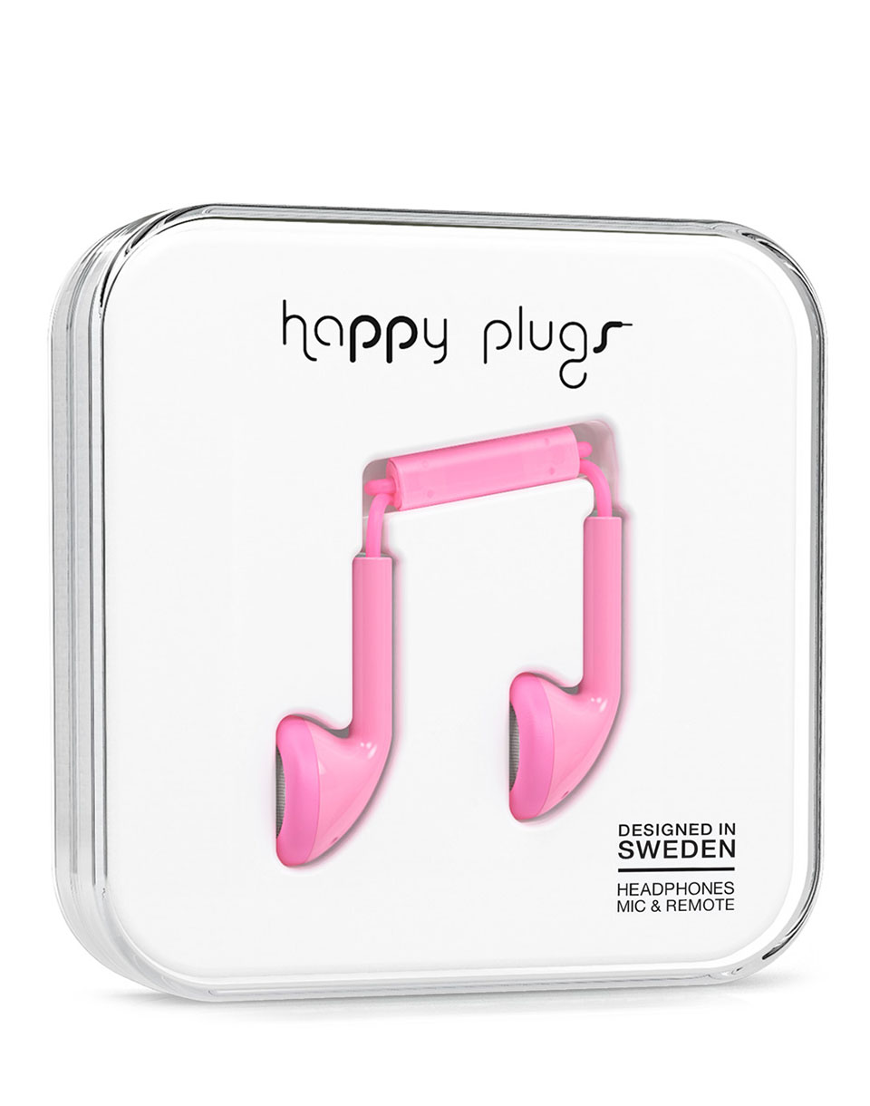 Sluchátka Happy Plugs Earbud Pink