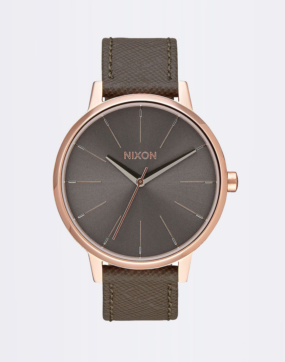 Nixon Kensington Leather Rose Gold Taupe