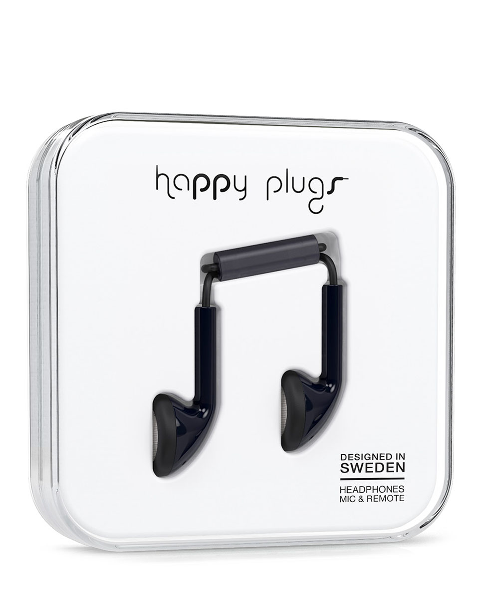 Sluchátka Happy Plugs Earbud Black