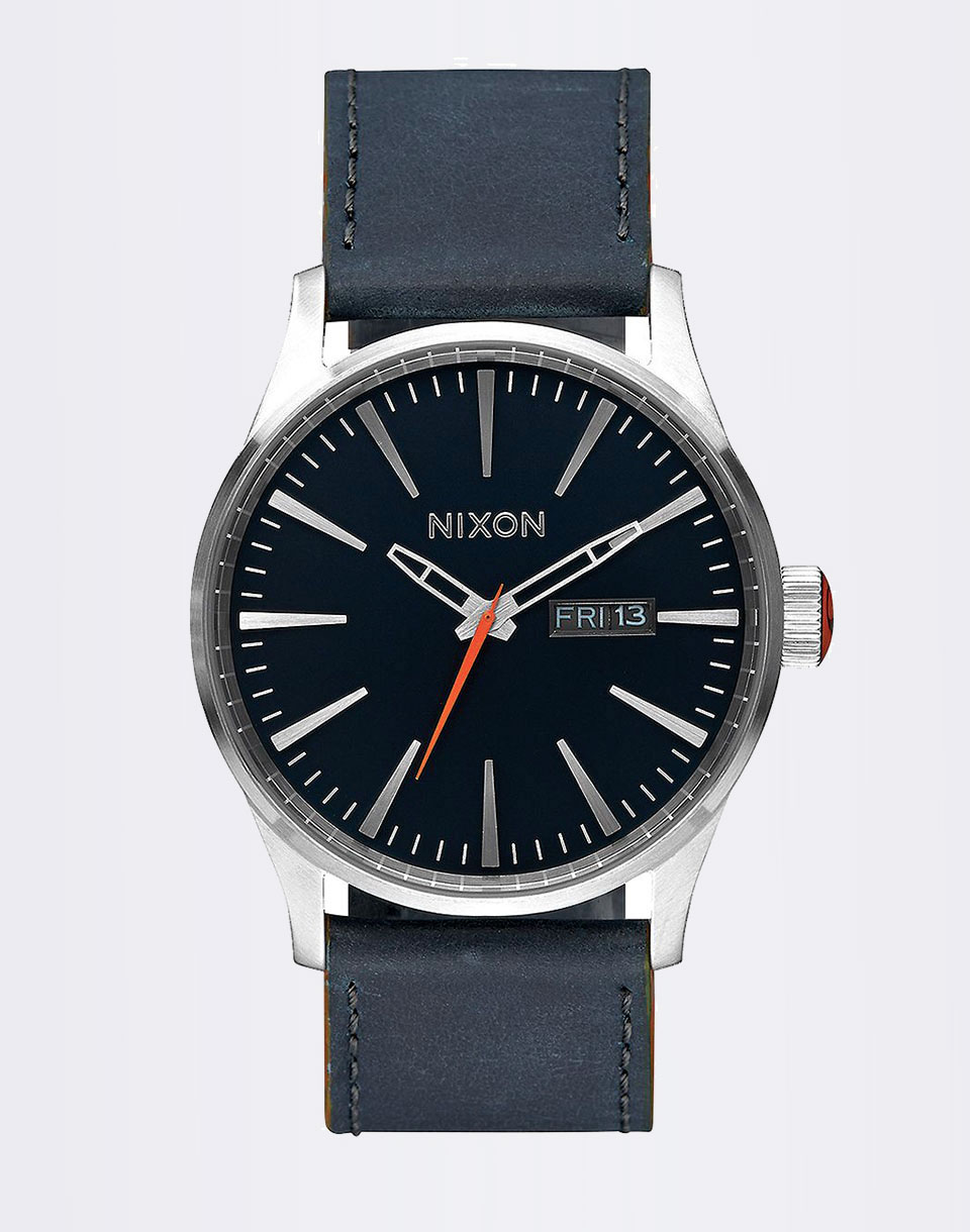 Nixon SENTRY LEATHER BLUEORANGE
