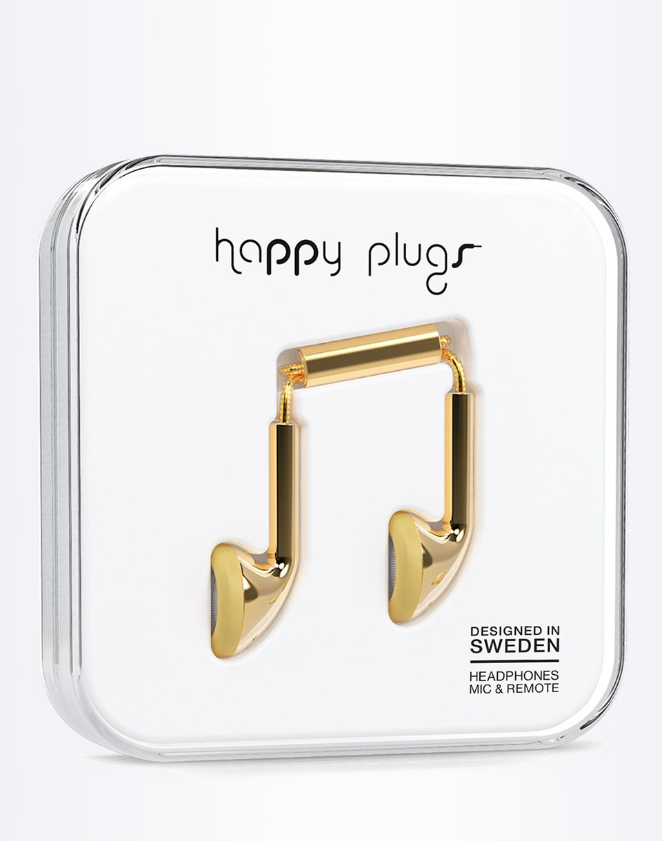 Sluchátka Happy Plugs Earbud gold