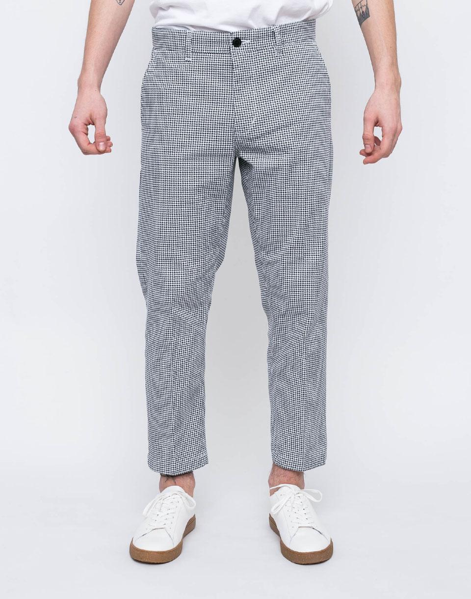 Kalhoty Obey STRAGGLER HOUNDSTOOTH WHITE MULTI 36 + doprava zdarma