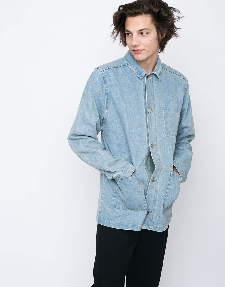 wesc The Denim Coach Bleached Denim XL