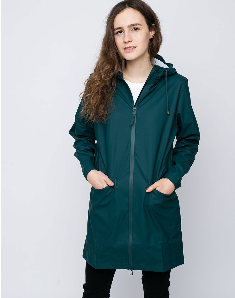 Rains W Coat 40 Dark Teal M L