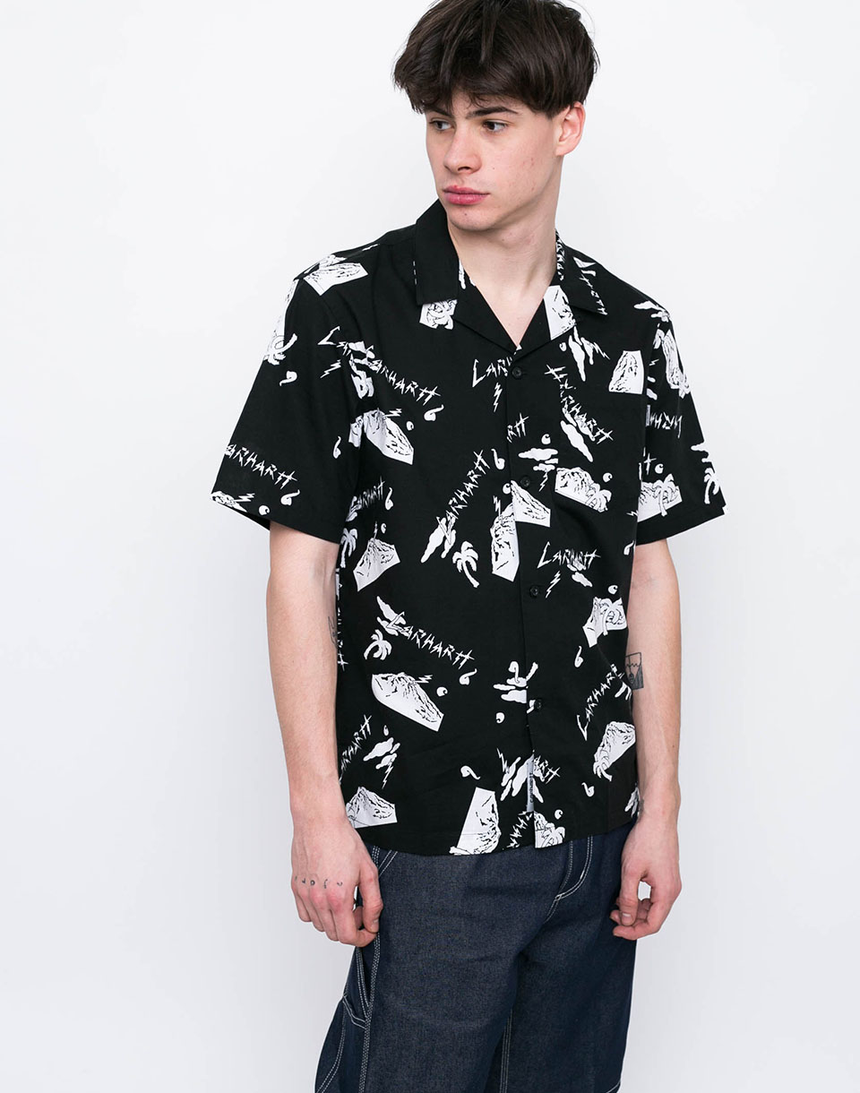 Carhartt WIP Anderson Solid Anderson Solid Print  Black   White XL