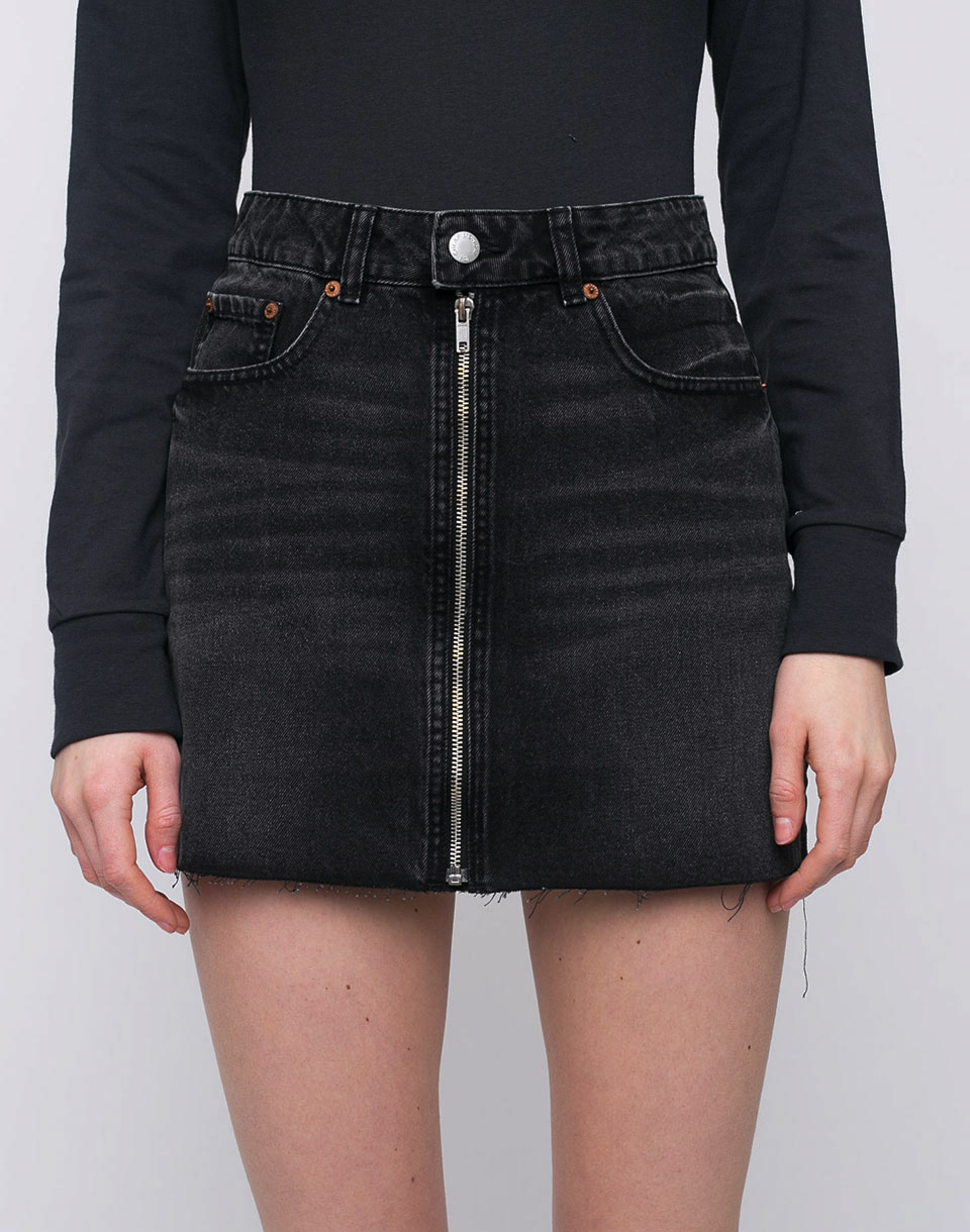 Cheap Monday Zip Short Black Smoke L