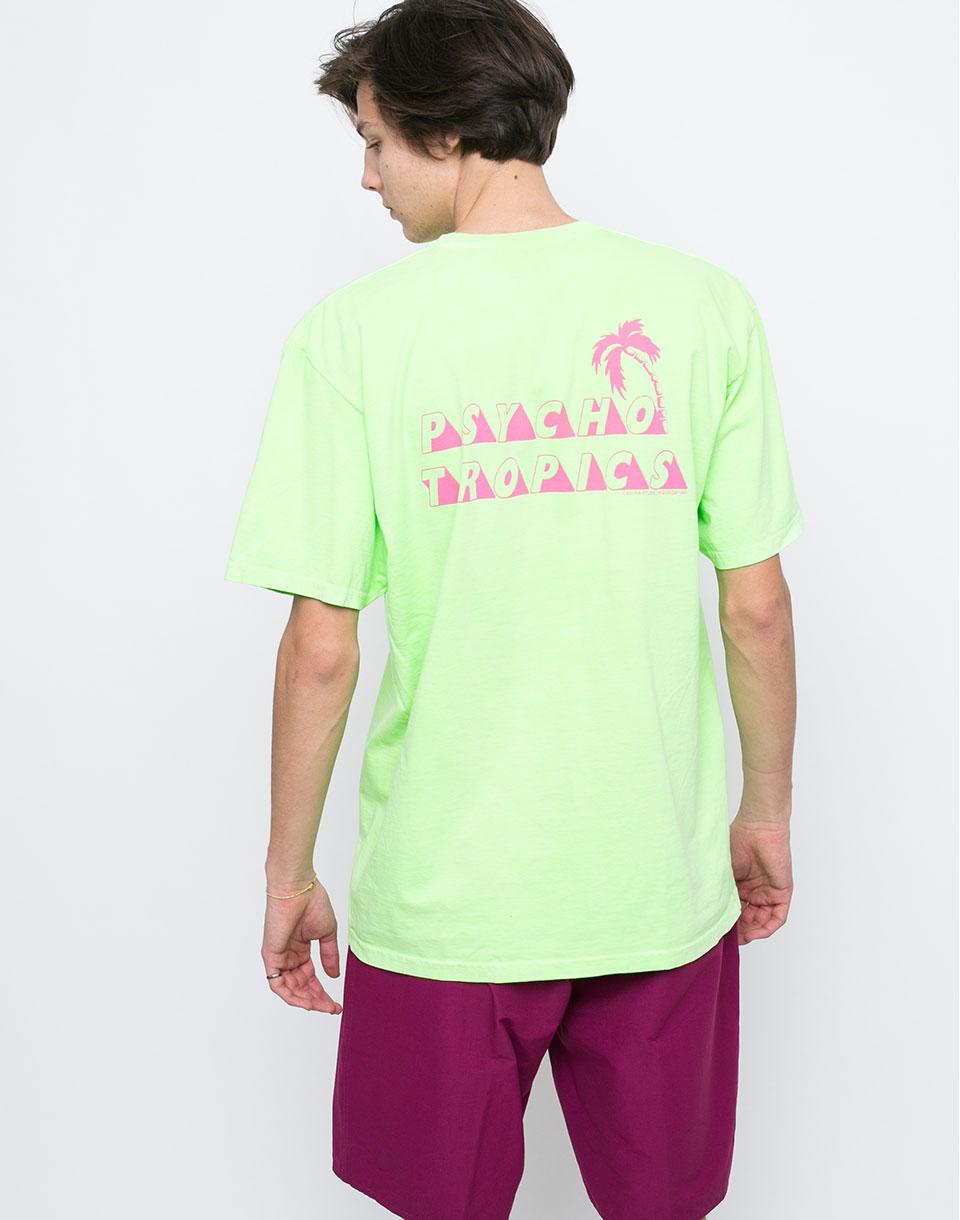 Logo tee Stussy Psycho Tropics green xl + novinka