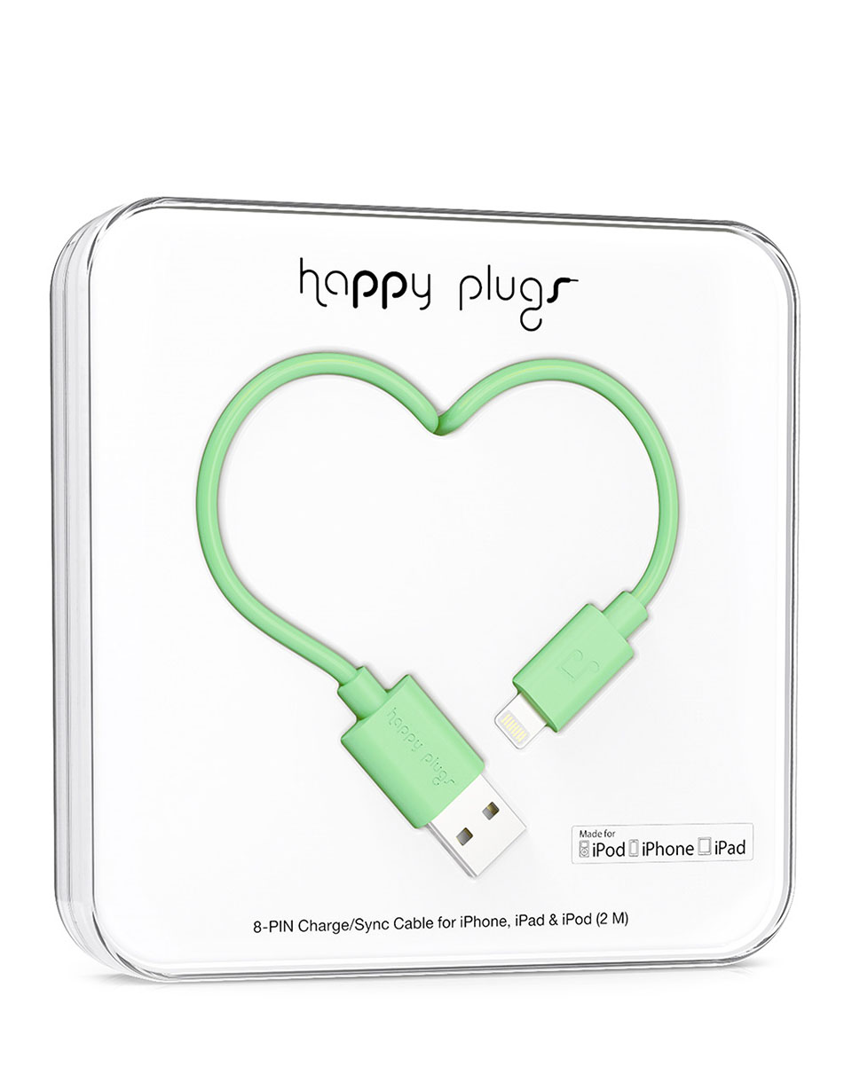 Happy Plugs Lightning to USB Charge/Sync Cable(2.0m) Mint